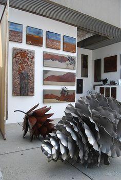 Giant Pine Cone Sculptures - Canadian Artist Floyd Elzinga Explores the Agressive Nature of Seeds (GALLERY) Outdoor Sculpture, Outdoor Art, Sculpture Art, Garden Sculptures, Sculpture Ideas, Metal Sculptures, Outdoor Ideas, Giant Pine Cones, Metal Garden Art