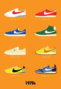 #Nike Decades   Airing Out 40 Years: Nike #Design Over The Decades   Co.Design: business + innovation + design