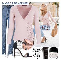 """""""MADE TO BE APPAREL"""" by gaby-mil ❤ liked on Polyvore featuring Too Faced Cosmetics, Marc Jacobs, vintage, Sweater, shop and madetobeapparel"""