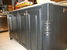 AFTER - close-up of kitchen island by Karla Boddie