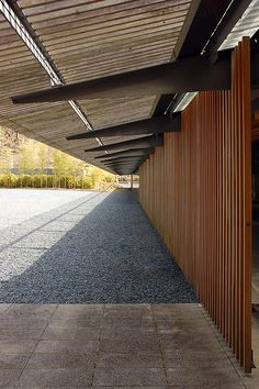 Hiroshige Ando Museum of Art, Tochigi, Japan, by architect Kengo Kuma 隈研吾 www.kkaa.co.jp