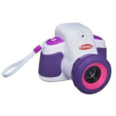 Playskool ShowCam Digital Camera and Projector - White/Pink Snap a pic and show it off instantly with the ShowCam kids' camera from Playskool. One flip of the switch instantly turns this easy-to-use digital camera into a real working projector. With over 50 ways to customize their pics and 3 ways to display them through the projector, kids will love to create their own show over and over again.  We designed the ShowCam 2-in-1 camera and projector with real kids in mind. The chunky size…