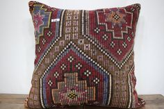 "32x32 kilim pillow oversized floor cushion cover 32""x32"" pillowcase embroidery vintage turkish kilim rug pillow couch pilllow case SP8080-14"