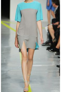 Richard Nicoll|Two-tone silk-crepe dress|NET-A-PORTER.COM