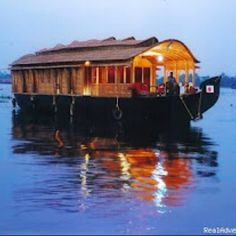 Kerala Houseboats  I would love to live on a houseboat!