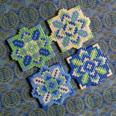 Coaster set hama beads by elopondy More