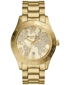 714c3f5cfe5 Michael Kors Women s Layton Gold-Tone Stainless Steel Bracelet Watch 44mm  MK5959 Jewelry   Watches - Watches - Macy s