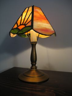 STAINED GLASS COLORFUL SHADE ON PRE-SELECTED BASE