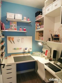 Room for compute, crafting and even nail polish!!
