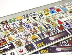 Macbook Keyboard Star Wars Skin / Vinyl Decals Killer Duc...