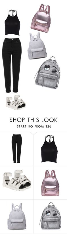 """1 Outfits 3 bags"" by charlotte-horan on Polyvore featuring mode, Topshop et Chiara Ferragni"