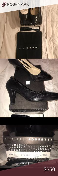 Fratelli Rossetti women's shoes size 37 brand new Fratelli Rossetti brand new inbox with dust bag and shoe horn. Perfect! Classy black shoes Fratelli Rossetti Shoes Heels