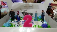 Frozen Party. Another view of her cake.