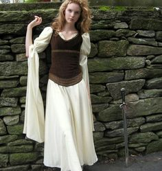 Shieldmaiden Gown and Suede Corselet size XS by redthreaded