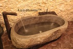 Natural stone bath Lux4home™. Stone bathtubs - Lux4home™ More on www.Lux4home.com