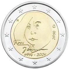moneda conmemorativa 2 euros Finlandia 2014. Janson.