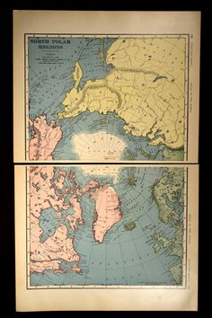 Antique Maps NORTH SOUTH POLES By KnickofTime Maps Pinterest - Where to buy antique maps