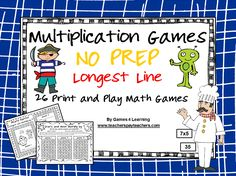 Fun Games 4 Learning: More NO PREP Math Games Freebies