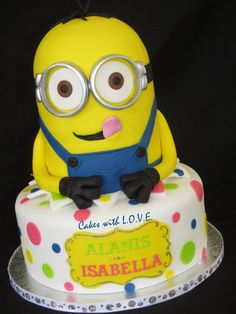Minion Cake Cakes and Cupcakes for Kids birthday party