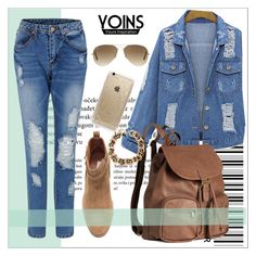 """""""YOINS  # 11"""" by yoinscollection ❤ liked on Polyvore featuring H&M, Rifle Paper Co, Ray-Ban, Fall, MustHave, autumn, autumnstyle and yoins"""