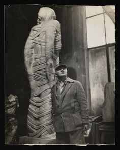 'Photograph of 'Lazarus' by Jacob Epstein', Anonymous, – Tate Archive Stone Sculpture, Modern Sculpture, Sculpture Art, Church History, Art History, Ivan Mestrovic, Christo And Jeanne Claude, Old Art, Art Studios