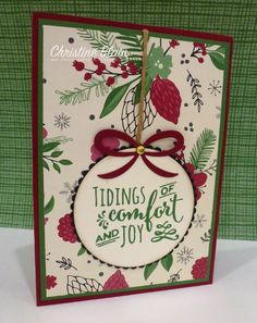"HAPPY HEART CARDS: STAMPIN' UP! ""THIS CHRISTMAS"" CARD 1"