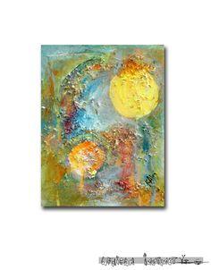 ORIGINAL Small Mixed Media Painting Shine by Africaninstinct, $38.00