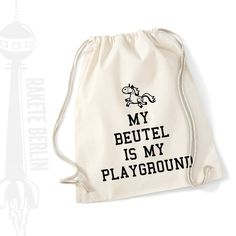 Turnbeutel 'My Beutel is my playground' von RaketeBerlin auf DaWanda.com  Kommt ihr mit auf den Spielplatz?