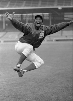 Ernie Banks after hitting his 500th home run.