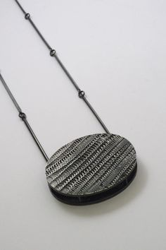 Oval Pendant, Sterling Silver, Heather Woof - The Scottish Gallery, Edinburgh - Contemporary Art Since 1842