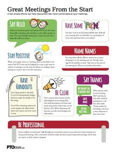 Tips for having great PTO or PTA meetings!