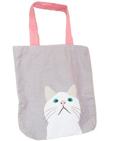 12b5848362ed Printed Grey Cat Tote Bag - Buy Online Canvas Tote Bags in India -  GraceIndia.