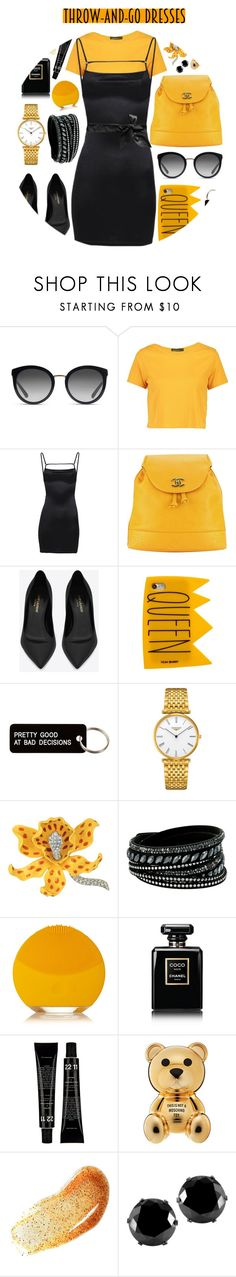 """""""Untitled #207"""" by finderskeeper ❤ liked on Polyvore featuring Dolce&Gabbana, Boohoo, Chanel, Yves Saint Laurent, Yeah Bunny, Various Projects, Longines, Kenneth Jay Lane, Swarovski and FOREO"""