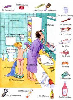 Im Badezimmer ~ Deutsch lernen