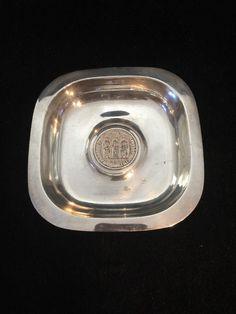 Rare Meister Silber Sterling Silver Tray Dish Zurich Medallion 204g Not Scrap #EmilMeisterMeisterSilber