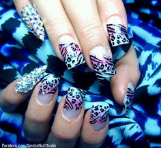 Pastel leopard french