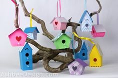 Ashbee Design Silhouette Projects: 3-D Bird Houses • Silhouette Tutorial