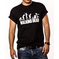 Walking Dead - Camiseta Negra Hombre #camiseta #starwars #marvel #gift