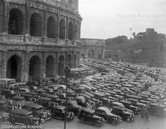 455b52e306ca1 Blessing of the automobiles at the Coloseum in 1937 on the day of the  festival of Saint Francesca Romana