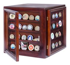 Challenge Coin Display Case 360, Coin Display Box Four Sides, Military Coin Displays | Freedom Display Cases