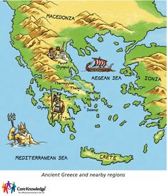 Ancient greece map vs modern greece map httpepictourist map of ancient greece gumiabroncs Images