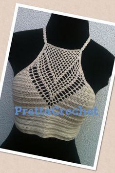 Frente única de crochet #cropped #top #boho #chic