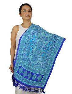 Extra Long Scarf Women - Indian Fashion Accessory for Girls Handmade 22x27 Inch ShalinIndia http://www.amazon.com/dp/B00EIFQ5LQ/ref=cm_sw_r_pi_dp_cKFQvb1GJ33KX