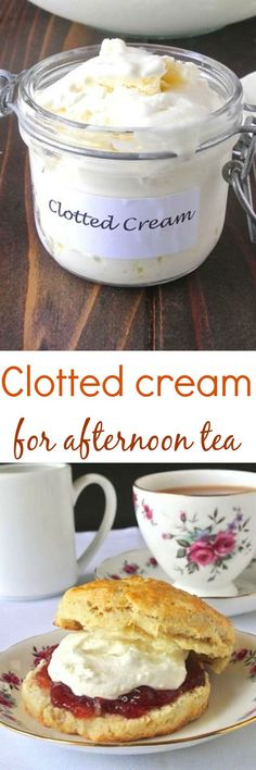 "Clotted cream for afternoon tea. This is a good recipe, also pinned to my ""Making Butters & Creams xo"" bo"