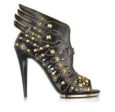 Sandales Forzieri, craquez sur les Angel Black Leather Studded Sandal Roberto Cavalli prix promo Forzieri 1 700,00 € TTC -