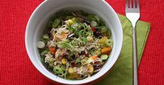 Paddys Rezept für Reissalat ist einfach, gesund und lecker. Die perfekte Kartoffelsalat-Alternative.