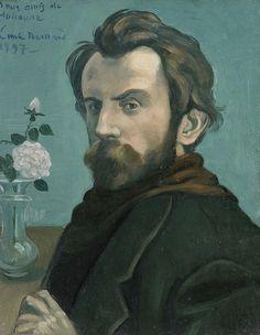 Autoportrait au vase de fleurs, par Émile Bernard (1897)