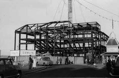 Construction work on Weymouth Pavilion photographed around 1959