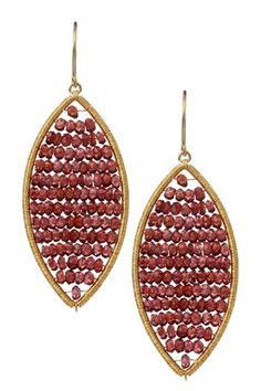 Garnet Abbacus Dangle Earrings