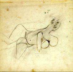 Willem de Kooning, studie, 1942